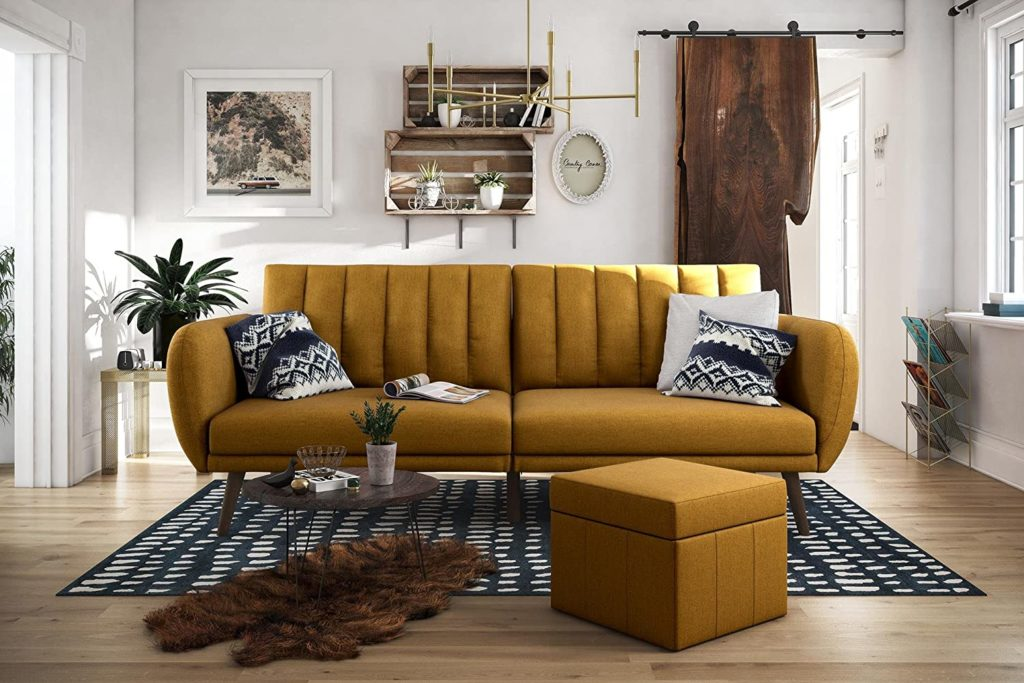 boho chic decor gold couch